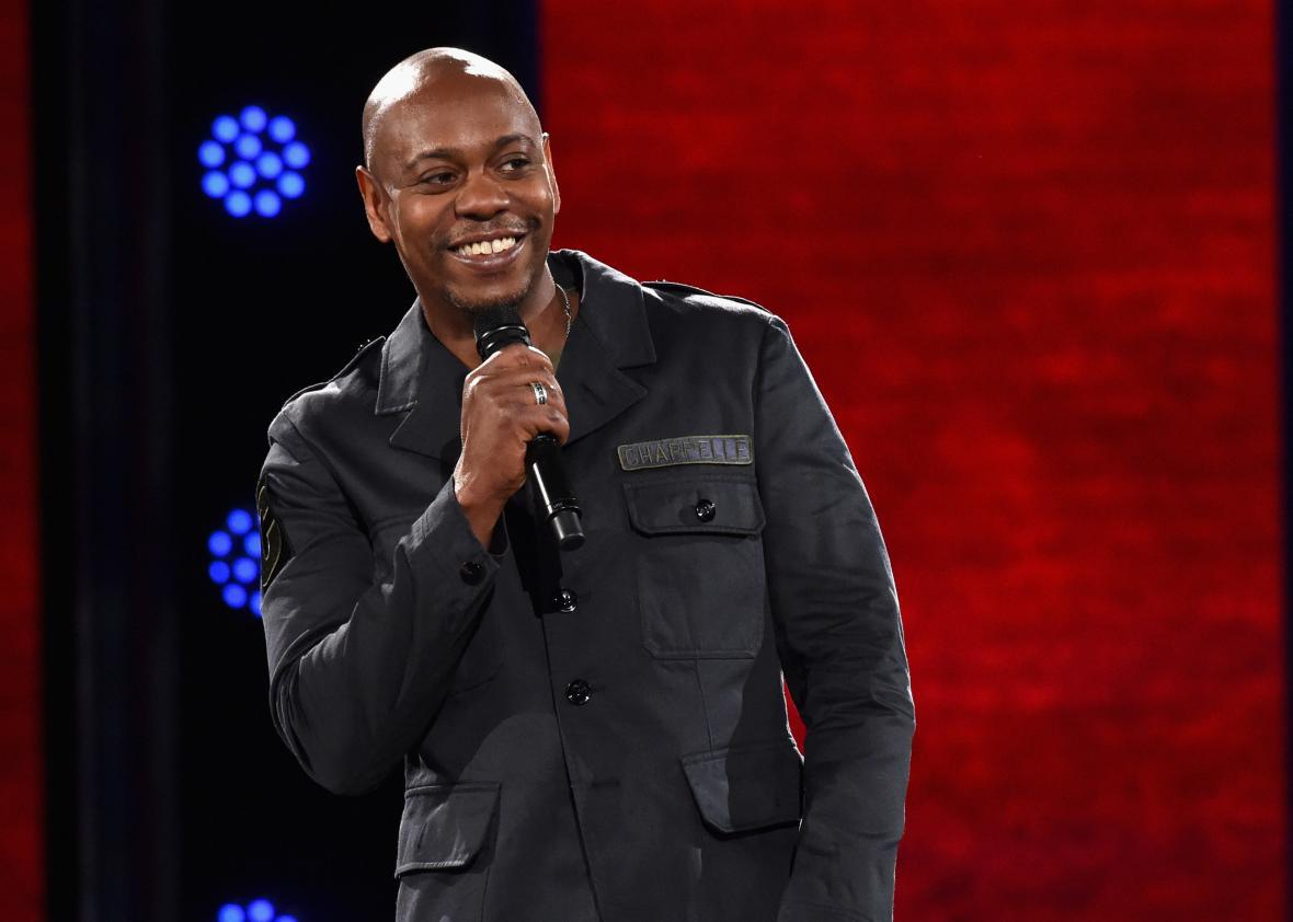 Dave Chappelle in one of his new Netflix stand-up specials