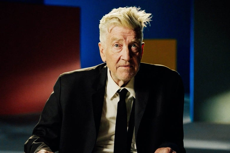 David Lynch, seated, in a still from his MasterClass.