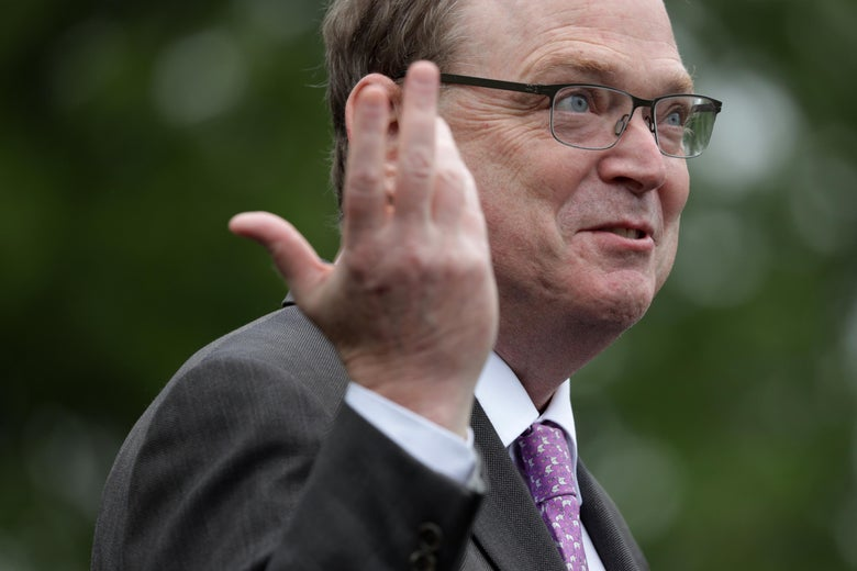 Kevin Hassett standing outside