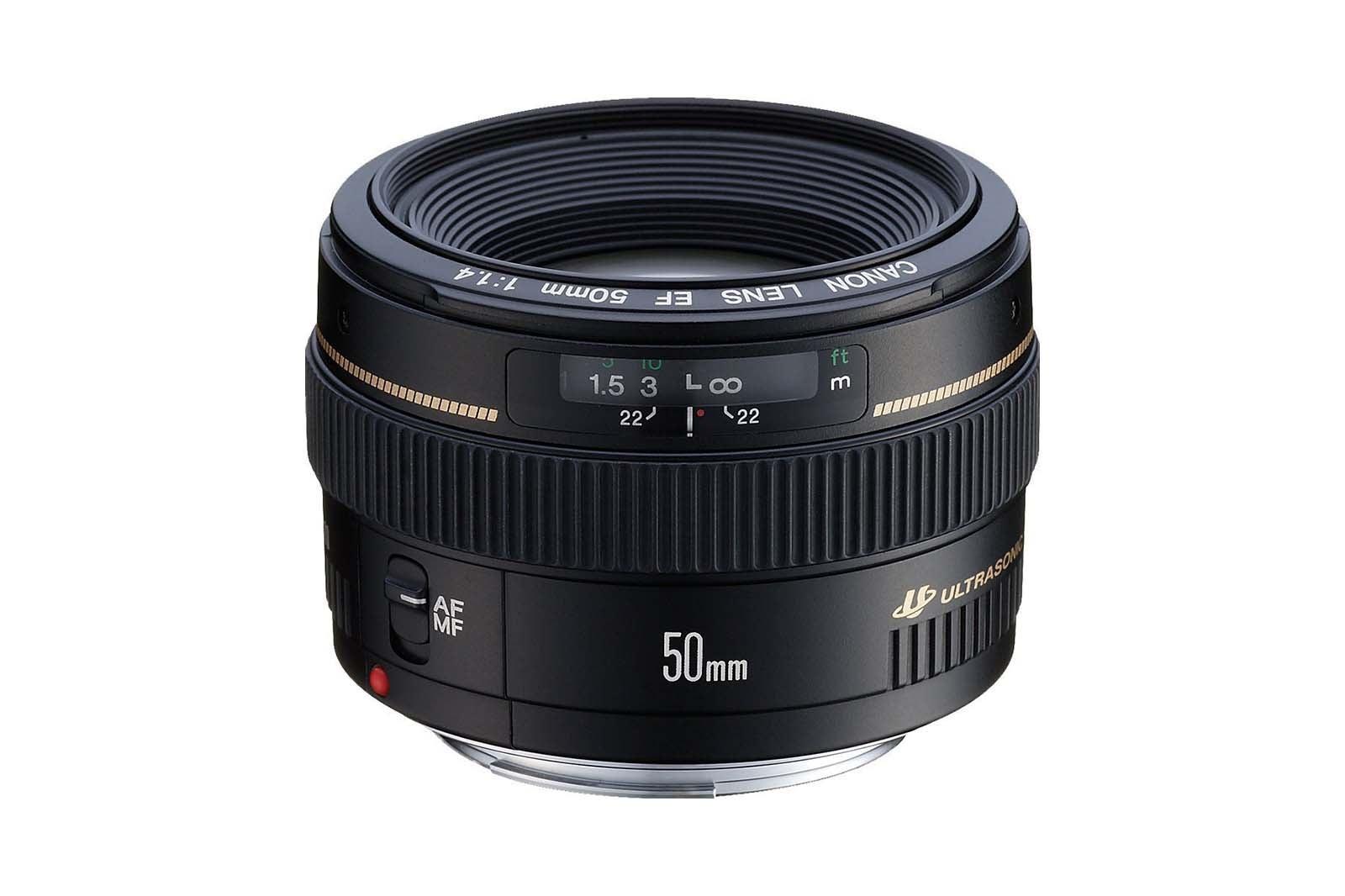 Canon EF 50mm f/1.4 USM Lens.