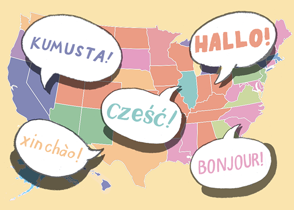 Language map: What's the most popular language in your state?