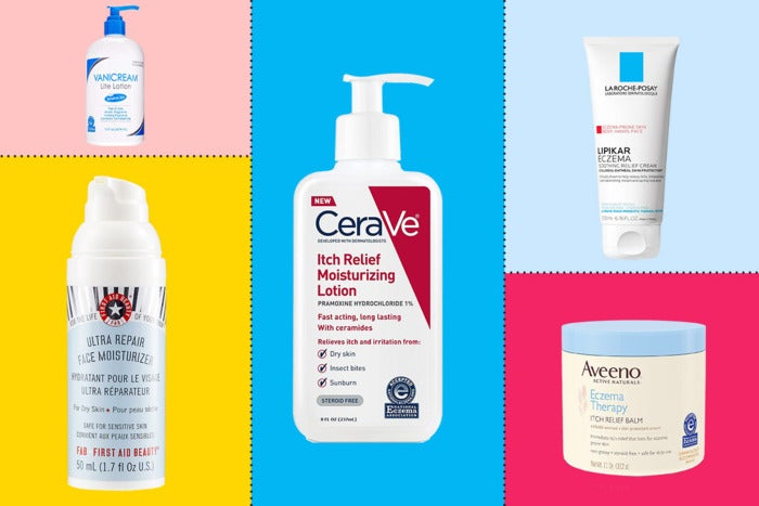 Collage of various lotions.