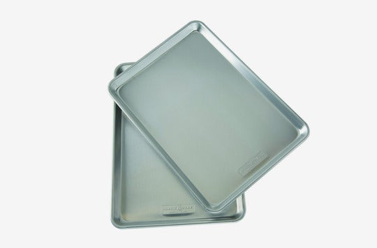 Nordic Ware Natural Aluminum Commercial Baker's Half Sheet (2 Pack).