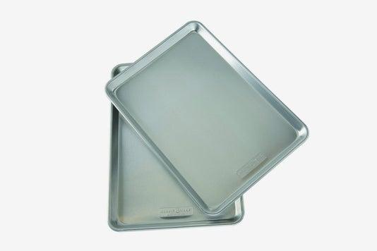 Nordic Ware Natural Aluminum Commercial Baker's Half Sheet (2 Pack).