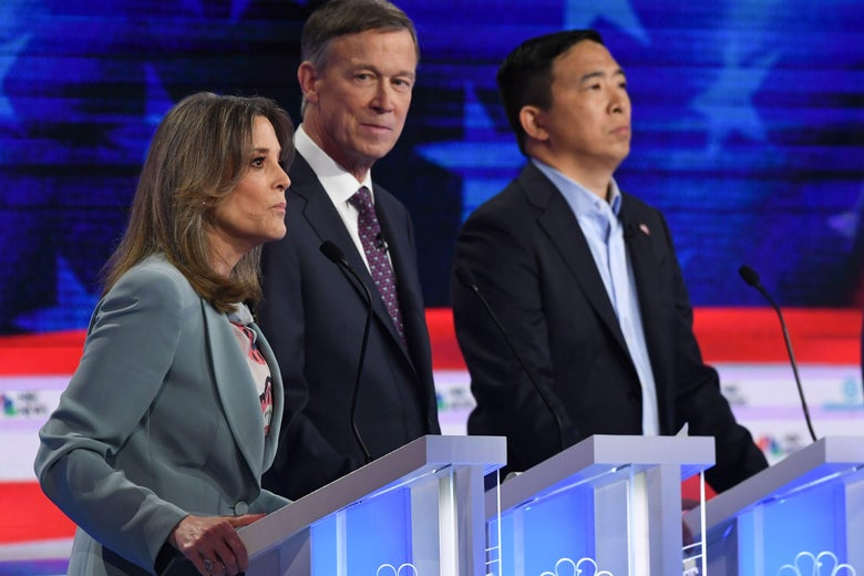 The Weirdest Three Minutes of the Second Democratic Debate