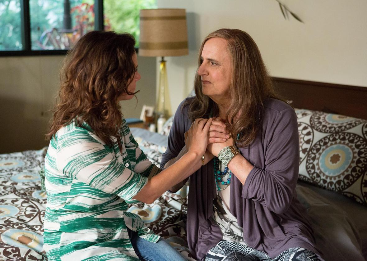Jeffrey Tambor and Amy Landecker in Transparent.
