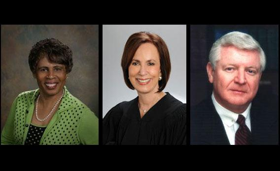 Justices Barbara J. Pariente, Peggy A. Quince, and R. Fred Lewis.