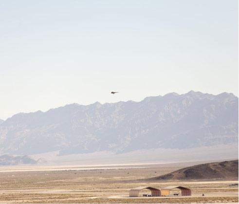 A RQ-170 Sentinel drone flies over Nevada.