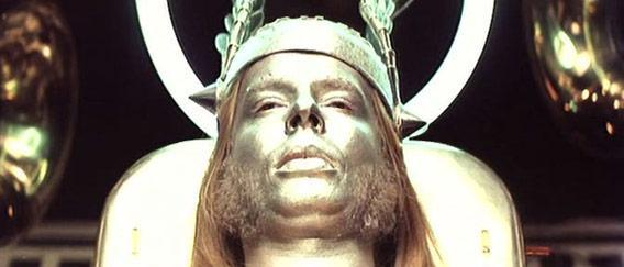 Yes keyboarder Rick Wakeman as Thor in the 1975 film Lisztomania.