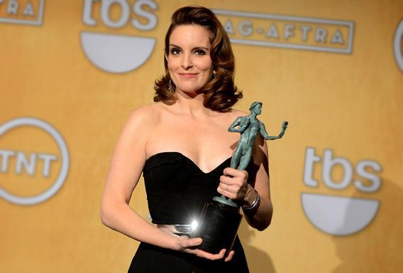Actress Tina Fey attends the 19th Annual Screen Actors Guild Awards.