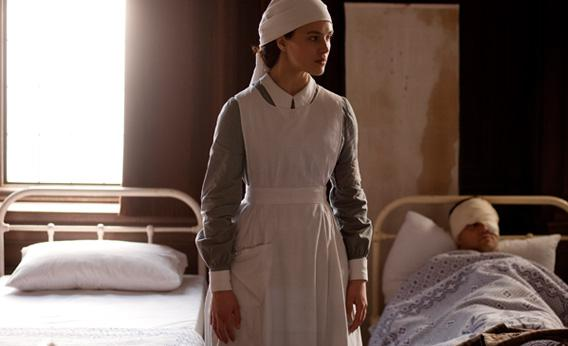 Jessica Brown-Findlay as Lady Sybil in Series 2 of Downton Abbey.