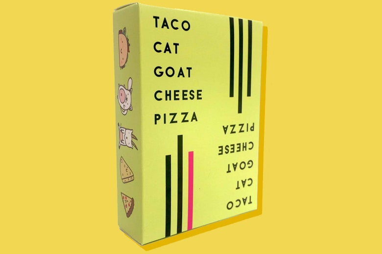 The box of Taco Cat Goat Cheese Pizza.