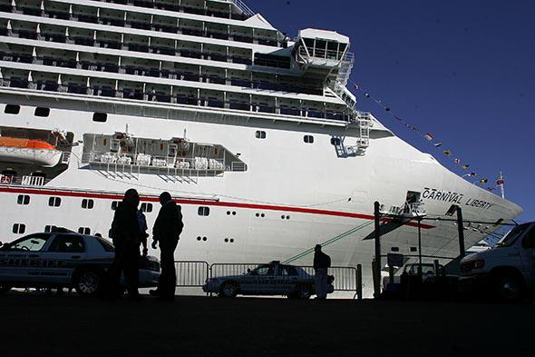 The Carnival Liberty Cruise ship docked at Port Everglades in November 2006 in Fort Lauderdale, Florida.