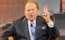 US gaming tycoon Sheldon Adelson during a press conference at the Marina Bay Sands complex in Singapore on June 23, 2010.