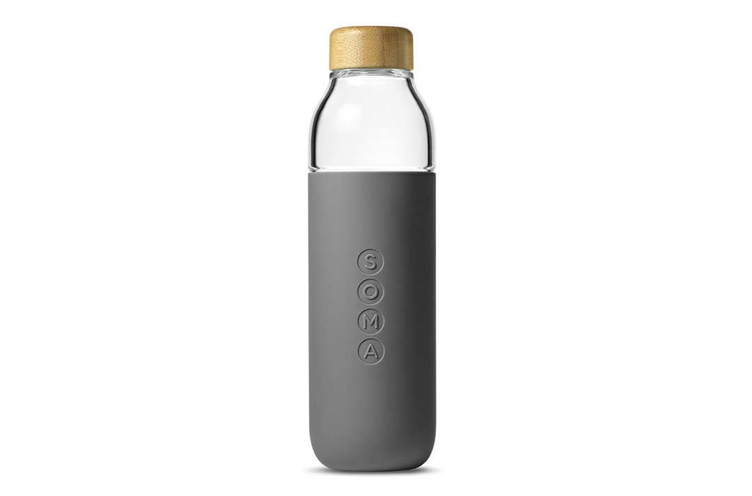 Soma glass bottle.