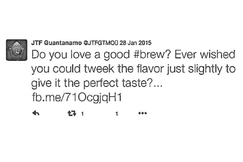 Another deleted tweet that the author printed out in August 2016. This one is about beer.