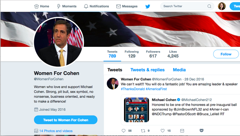 "Report: Cohen Hired Tech Firm to Try to Rig Polls for Trump and Create ""Women for Cohen"" Fan Account"