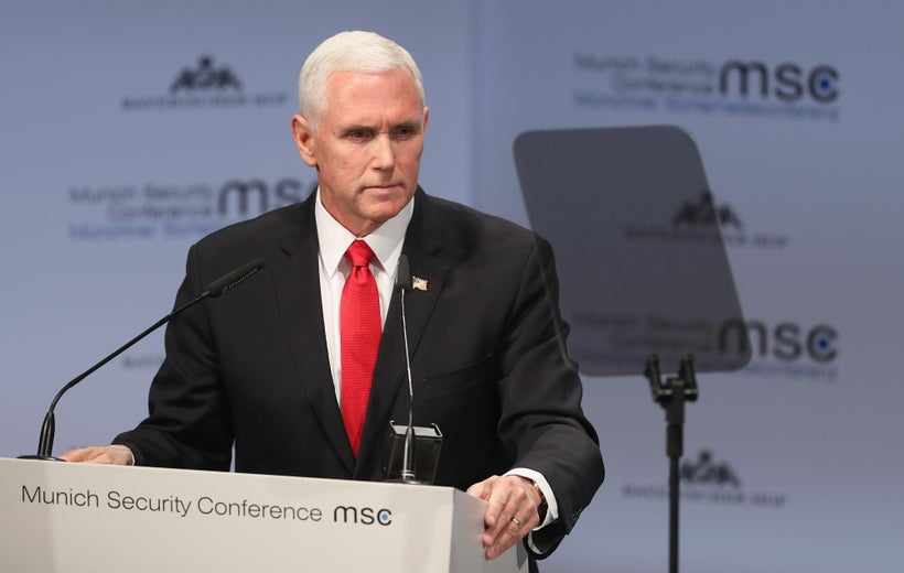 Mike Pence Expected Applause When He Mentioned Trump in Munich. He Got Silence.