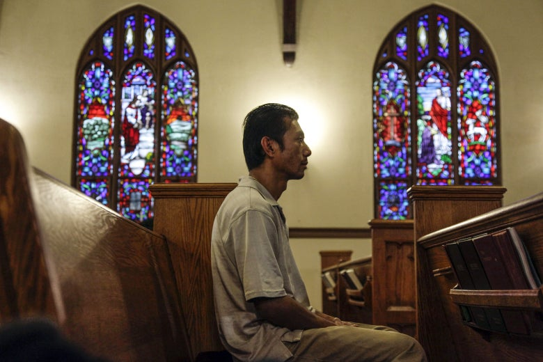 Harry Pangemanan at the Reformed Church of Highland Park in Highland Park, New Jersey in 2011.
