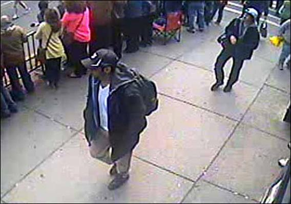 Suspects wanted for questioning in relation to the Boston Marathon bombing April 15 are revealed in this handout photo during an FBI news conference in Boston, April 18, 2013.