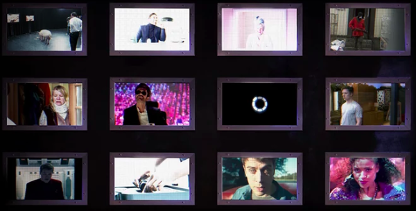 A grid of framed images from Black Mirror's Bandersnatch