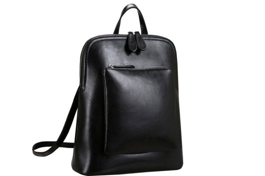 Heshe leather backpack.