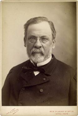 Portrait of French scientist Louis Pasteur in mid-career.