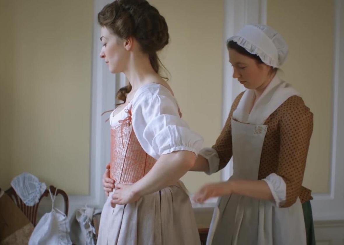 67e88f0b1a6f Watch an Exhausting Re-enactment of How a Wealthy Woman Got Dressed in 18th-