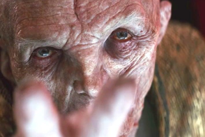Supreme Leader Snoke in The Last Jedi