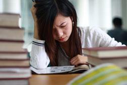 Anxious student.