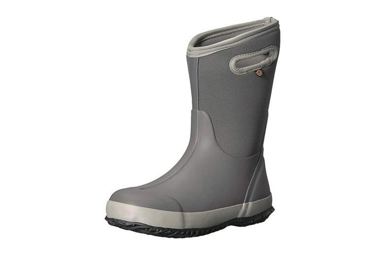 Gray rain boot