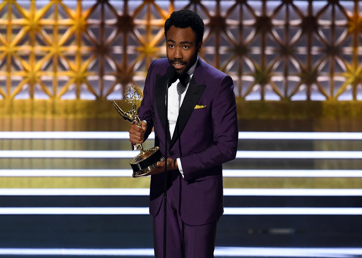 Donald Glover won for both directing and acting in Atlanta.