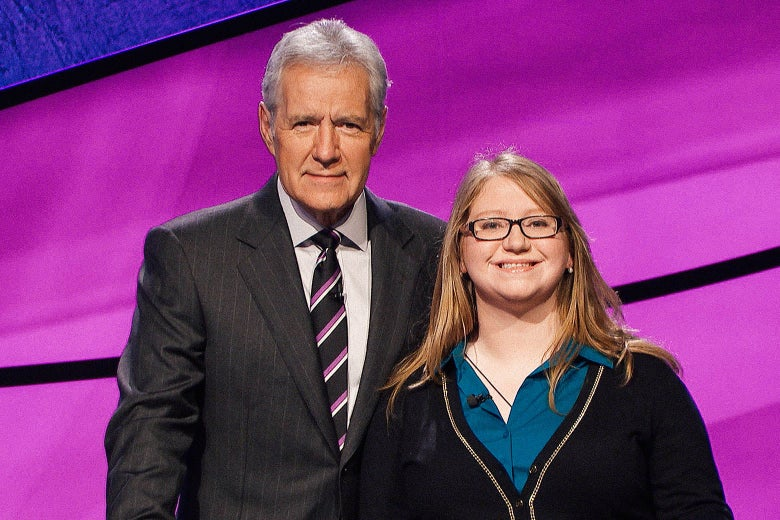 Alex Trebek and Stephanie Hull