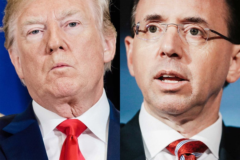 Donald Trump, Rod Rosenstein.