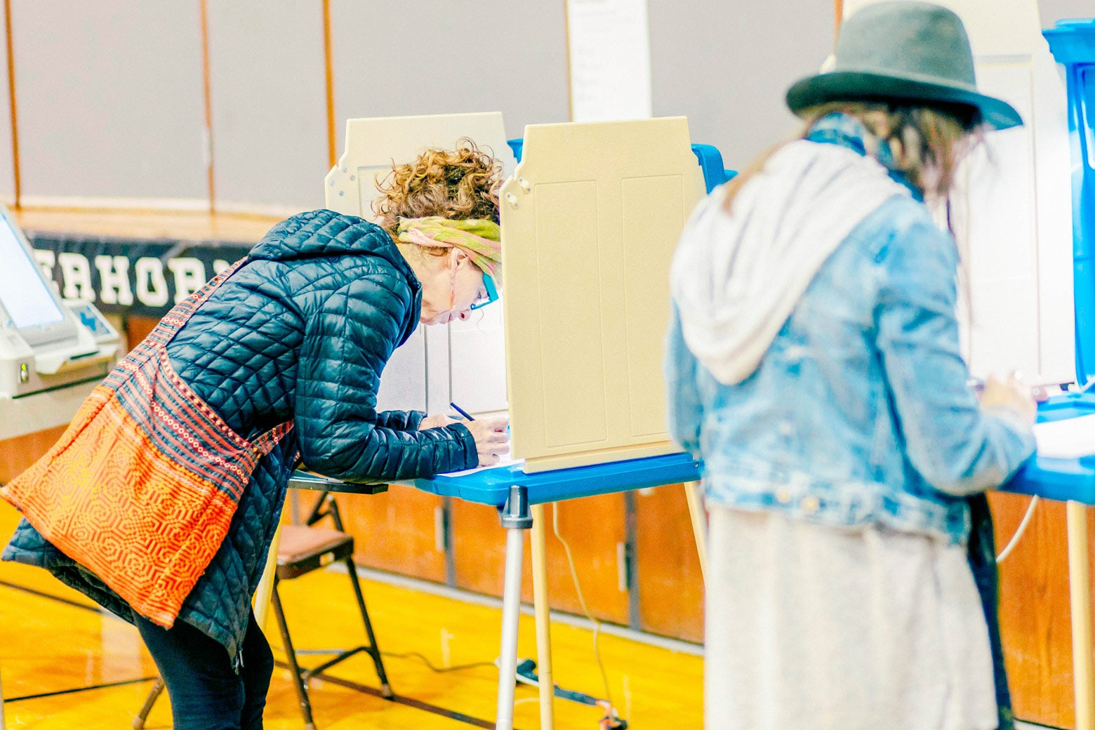 Voters cast ballots at a polling station in Minneapolis on Tuesday.
