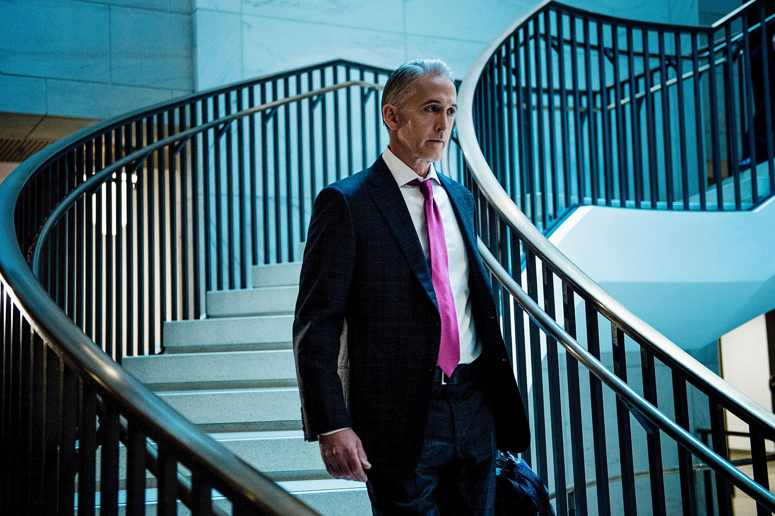 South Carolina Rep. Trey Gowdy arrives for a closed session with Donald Trump Jr. before the House Intelligence Committee on Capitol Hill on Dec. 6.