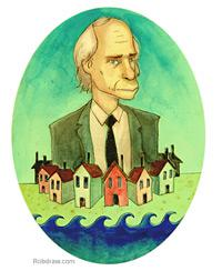 Richard Ford illustration by Rob Donnelly. Click image to expand.
