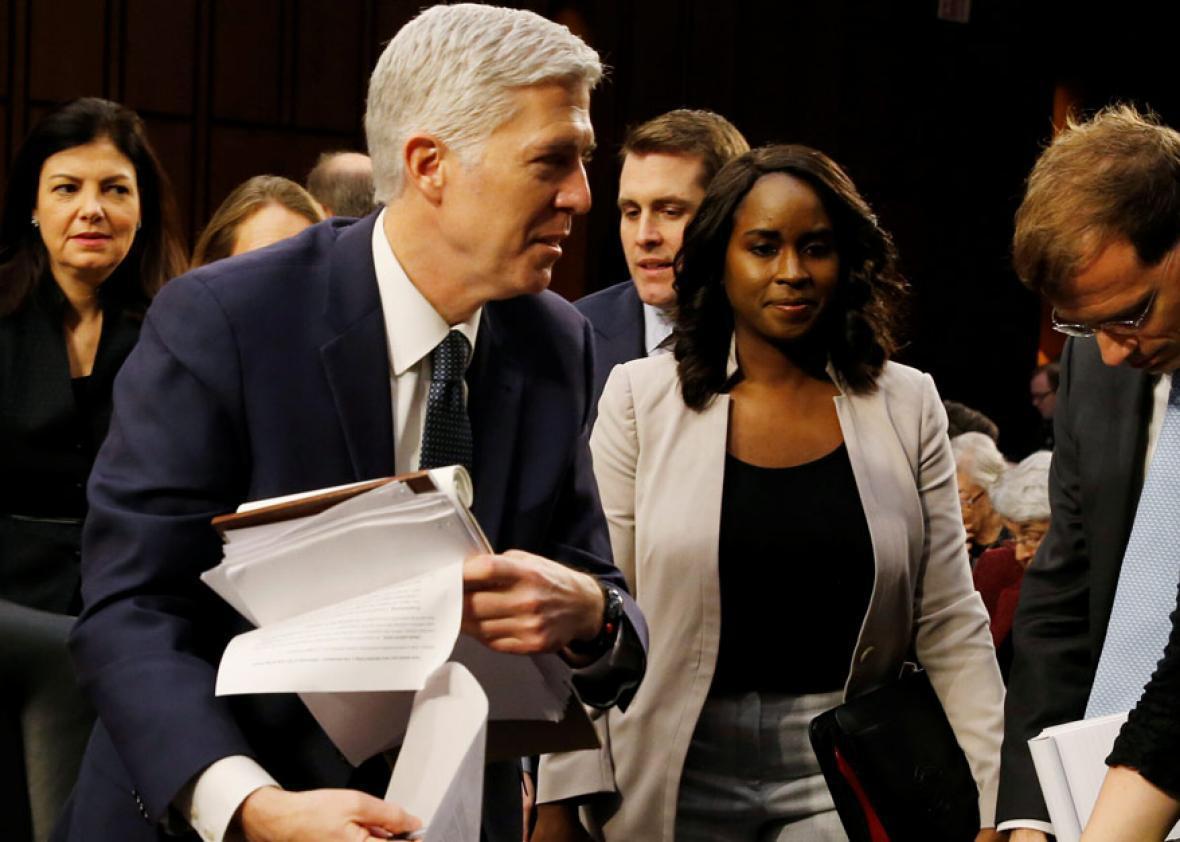 U.S. Supreme Court nominee judge Neil Gorsuch.