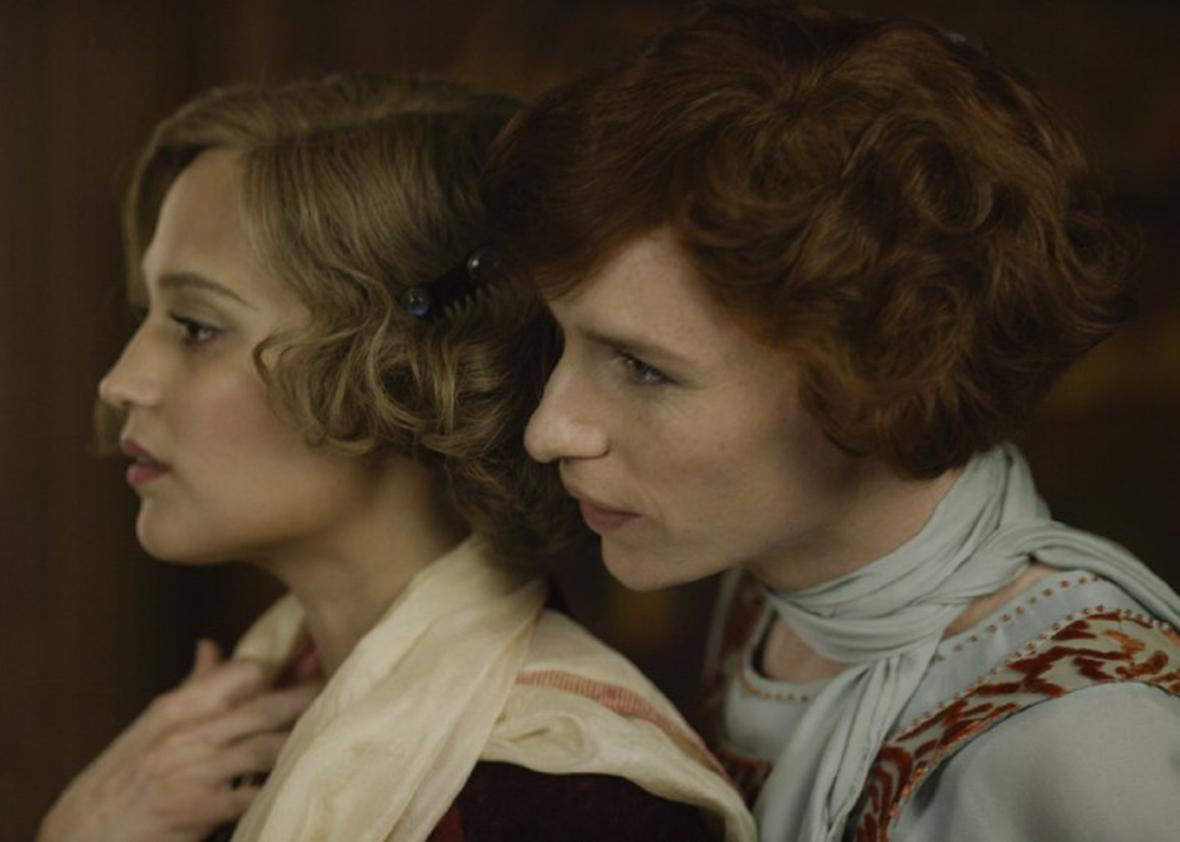Alicia Vikander and Eddie Redmayne in The Danish Girl.