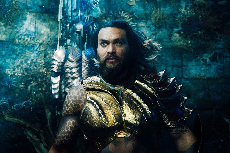 Jason Momoa in Aquaman.