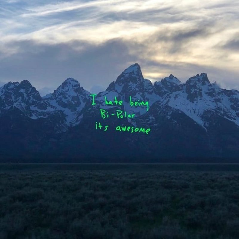 The cover of Kanye West's Ye album.