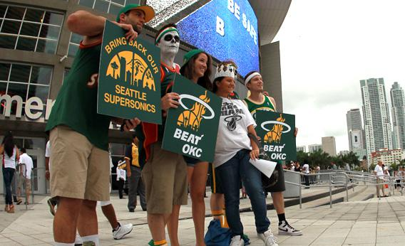 Fans of the former NBA franchise Seattle SuperSonics.