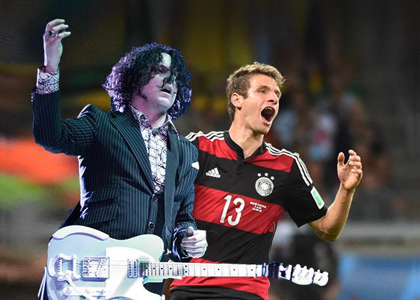 Jack White and Thomas Müller