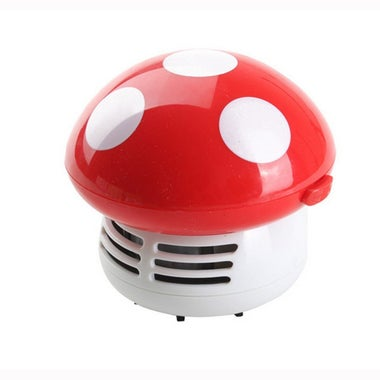 HONBAY Mini Cute Mushroom Shaped Table Dust Vacuum Cleaner.