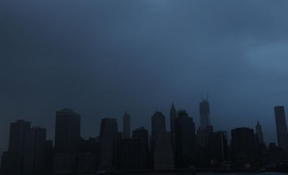 Much of Manhattan lost power during Hurricane Sandy.
