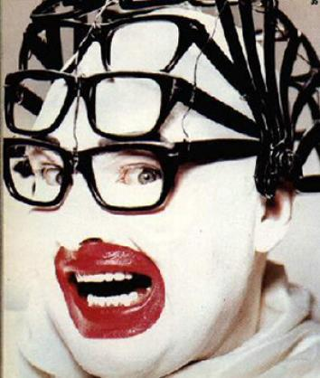 Leigh Bowery Multi glasses from Taboo art showing.
