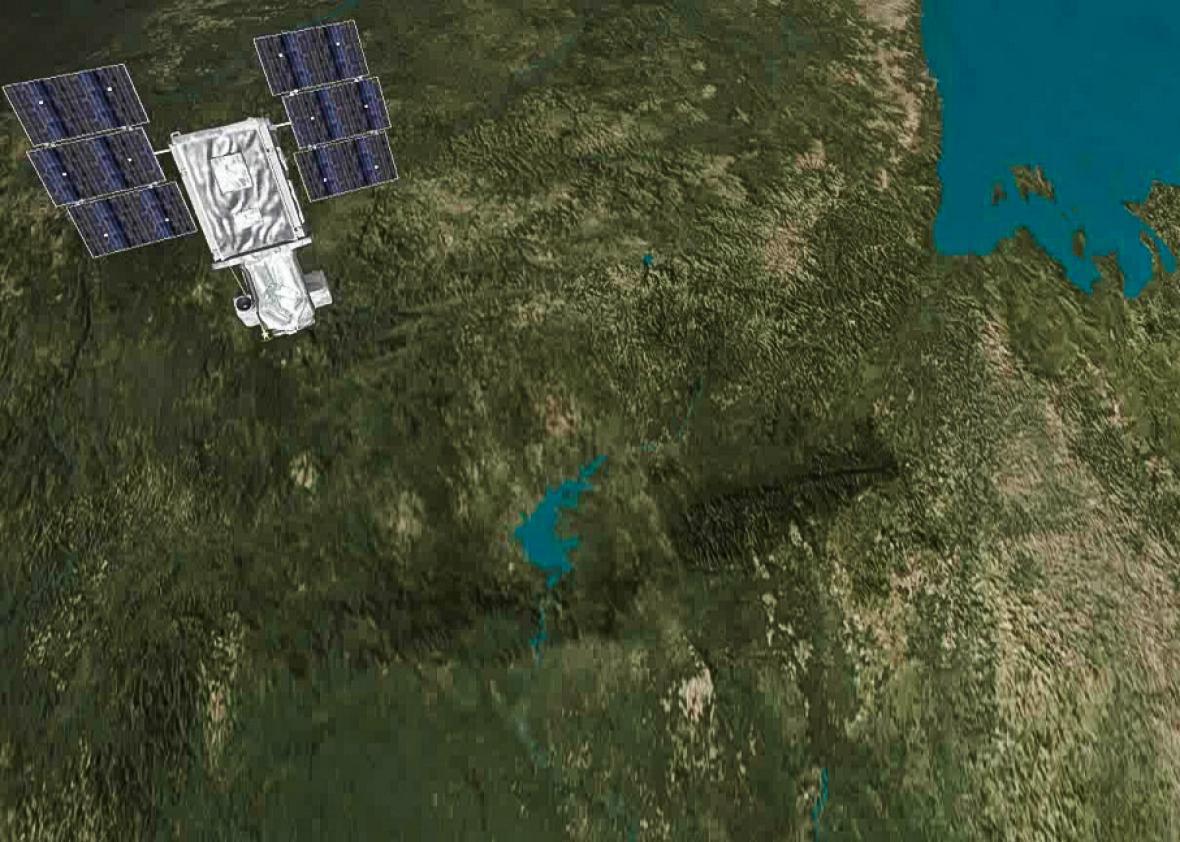 DigitalGlobe satellite.