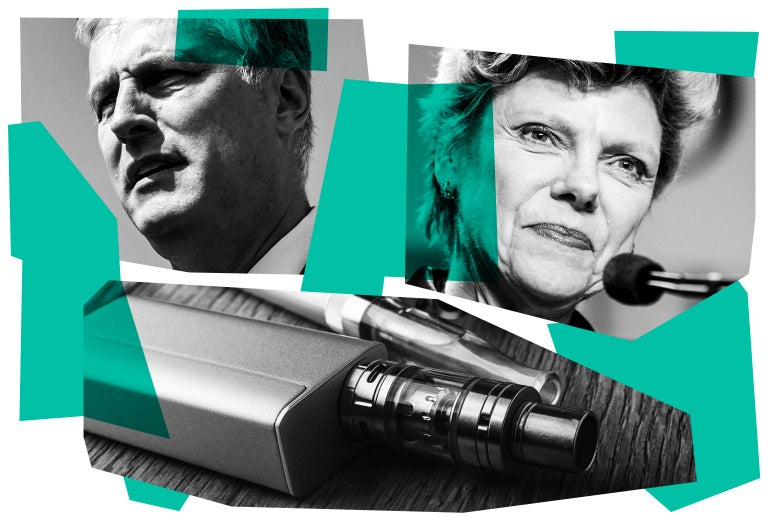 Robert O'Brien, Cokie Roberts, and an e-cigarette.