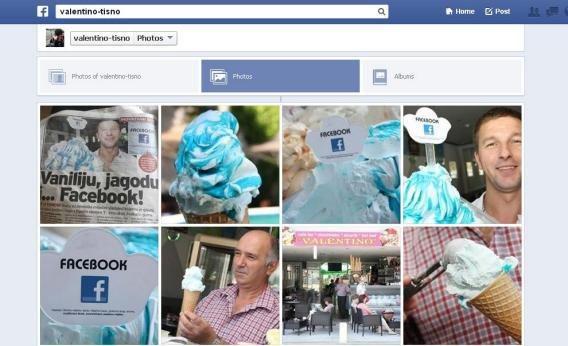 A Croatian ice cream shop came up with a flavor called Facebook. It's drenched in blue syrup.
