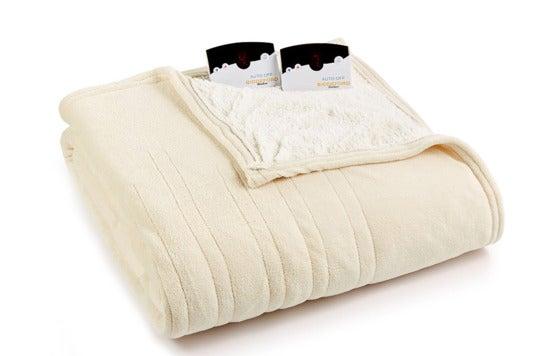 Biddeford sherpa heated blanket.